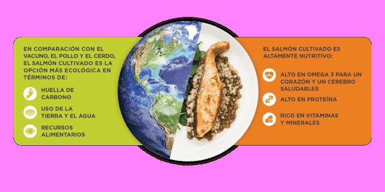 Earth Salmon Graphic Spanish